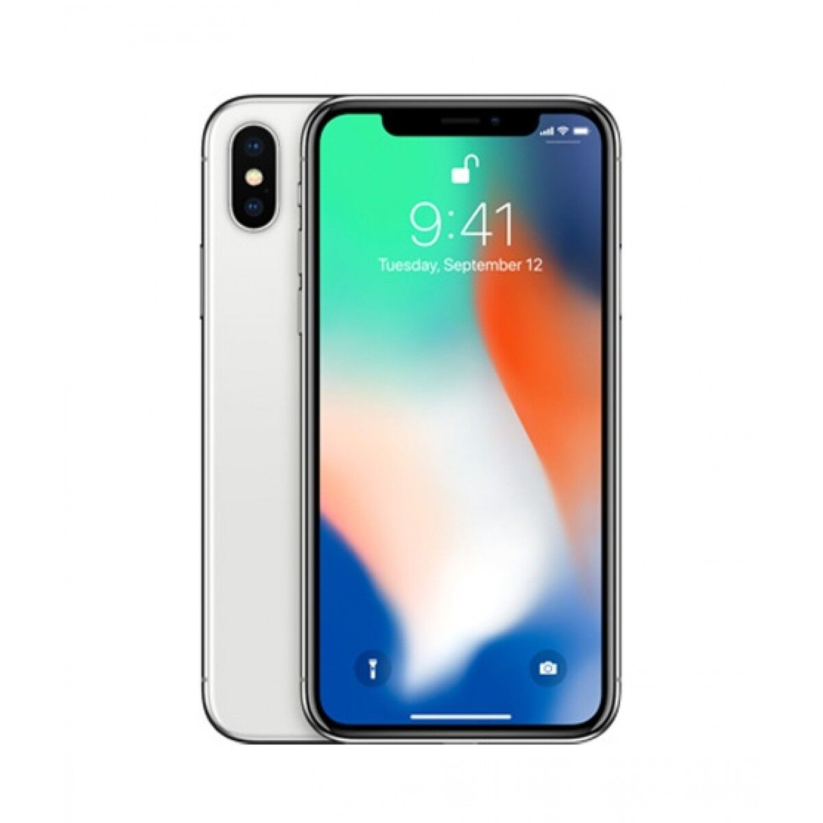 Apple iPhone X 64GB Silver With FaceTime