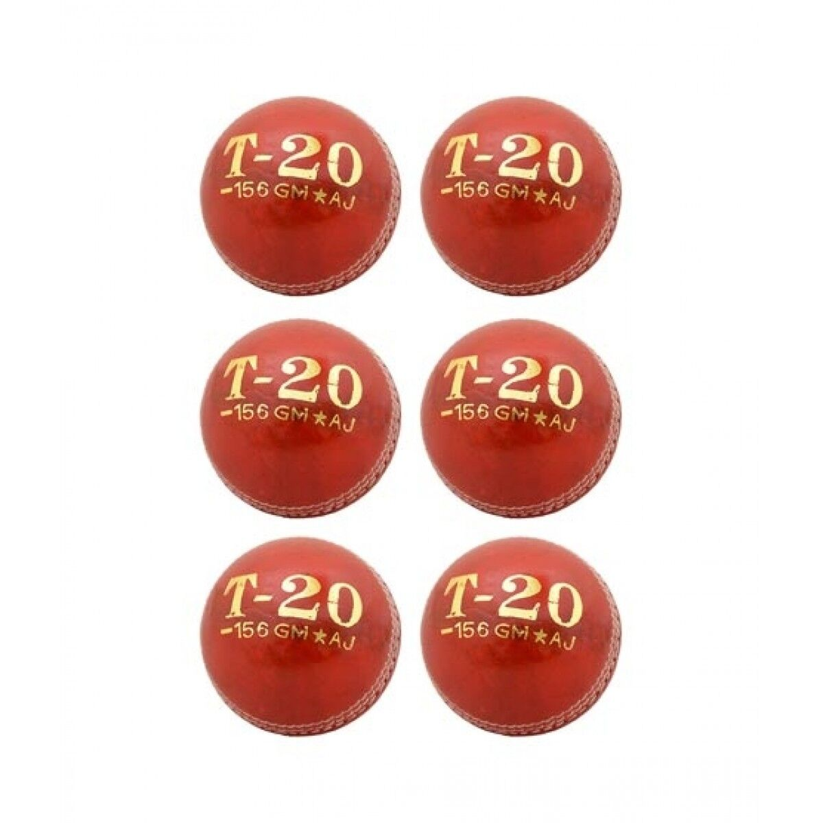 Asaan Buy T-20 Cricket Hard Ball Red Pack Of 6 (SP-570)