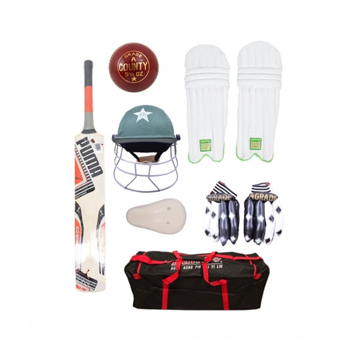 Asaan Buy Complete Cricket Kit For 9-14 Year Kids Pack of 8