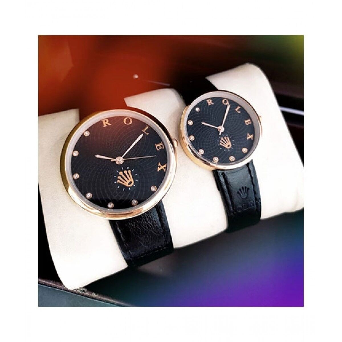 B2C Solution Leather Strap Couple Watch