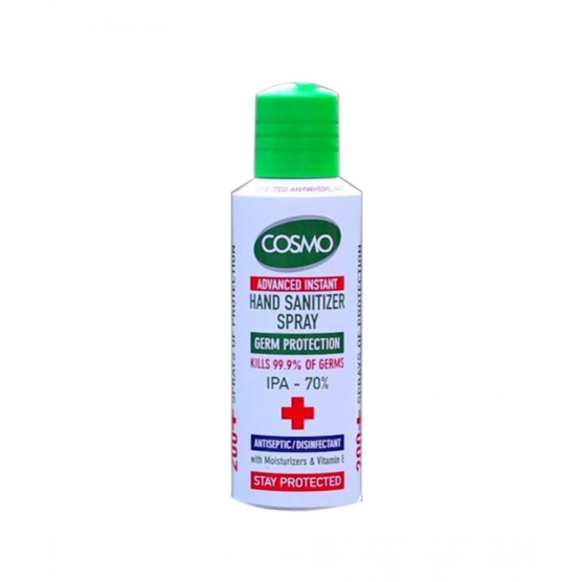 Cosmo Advanced Instant Disinfectant Hand Sanitizer Spray 150ml (70% Alcohol ISO Certified)