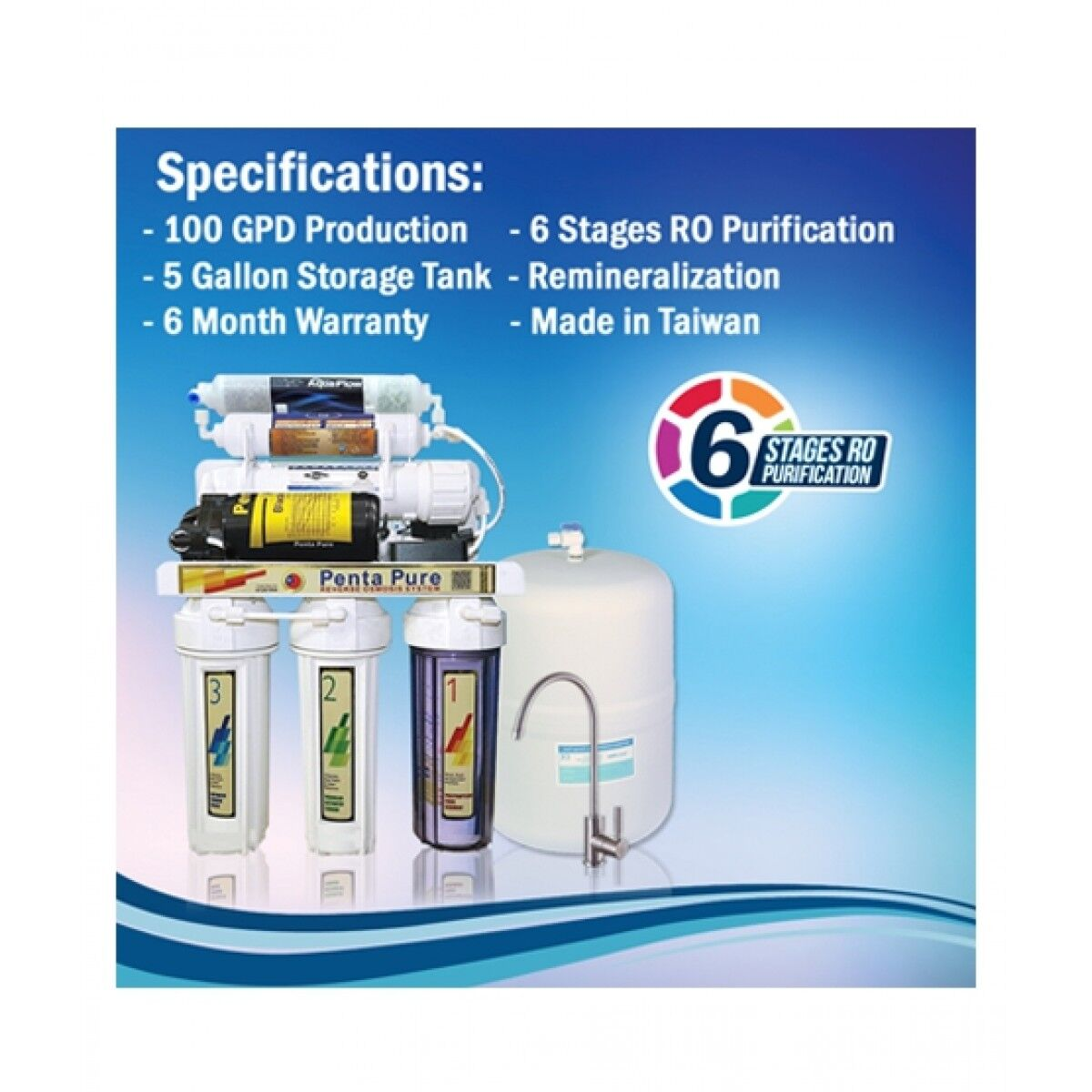 Penta Pure 6 Stages RO Water Filter System