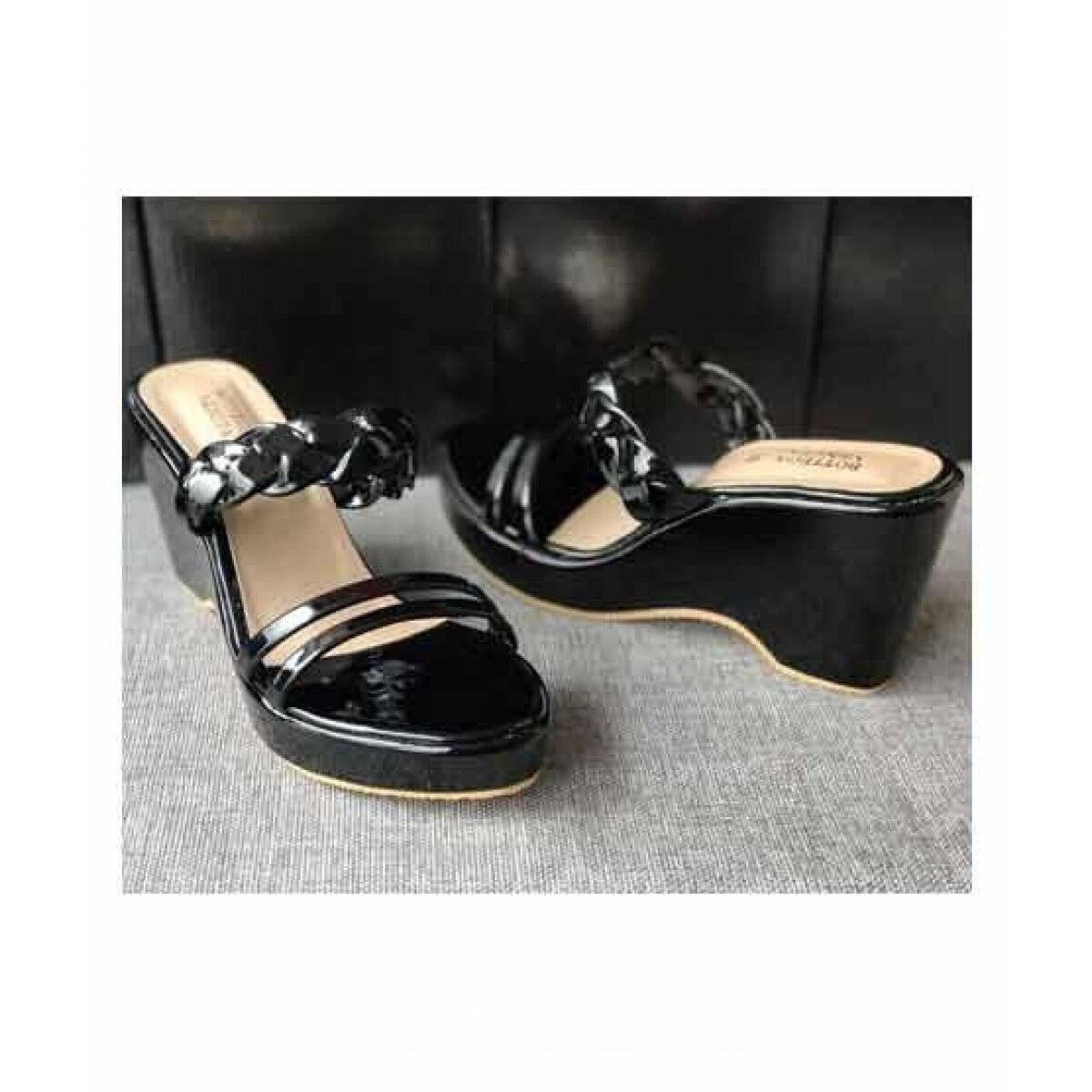 Sale Out Wedges For Women Black (0355)