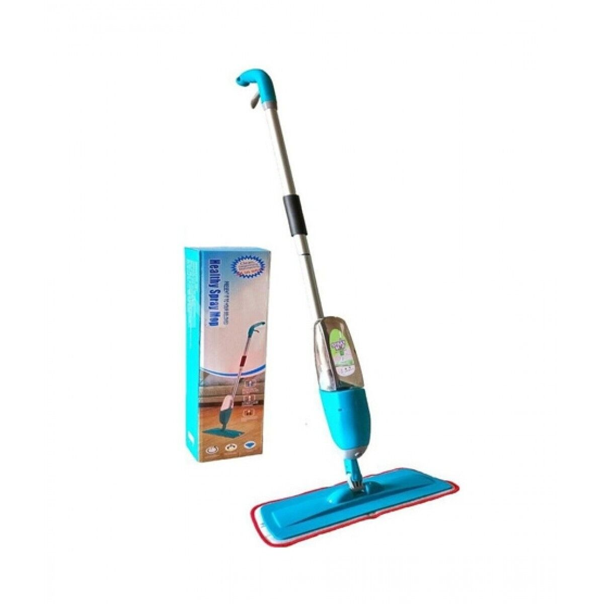 The Mart One Spray Floor Mop Kit With Microfiber Pad Blue