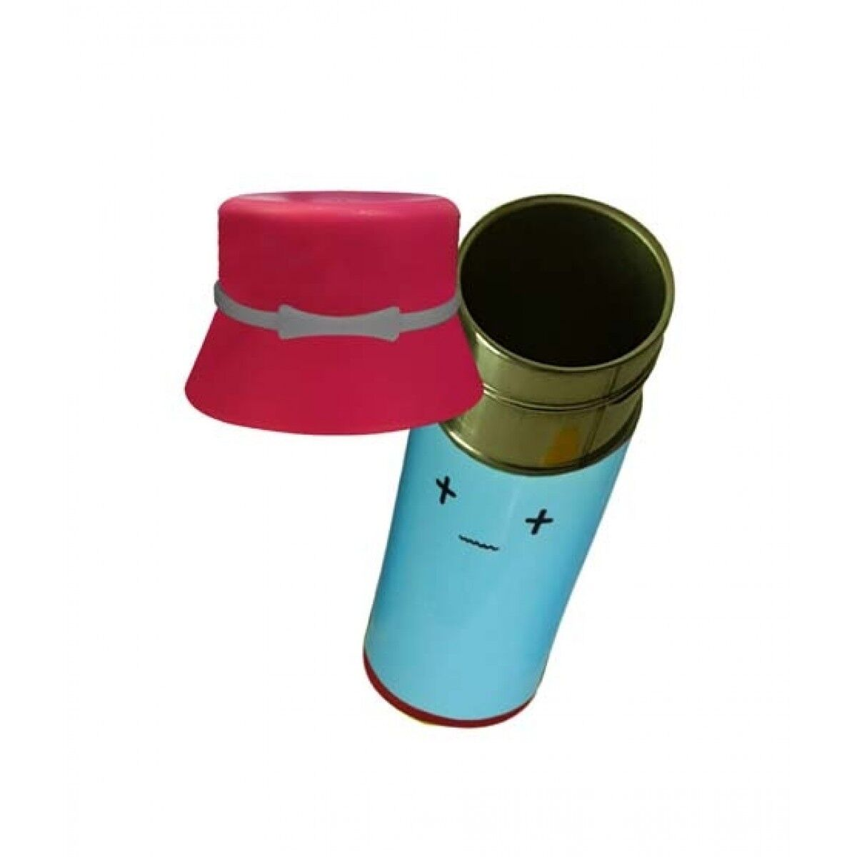 World of Promotion Stainless Steel Thermos With a Hat Pink