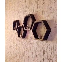 Shamima Crafts Wall Shelves Frame Brown Pack of 3