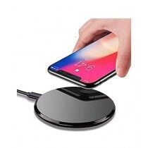 247 Store Round Shape Wireless Charger Black