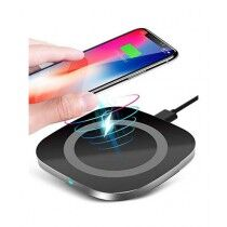 247 Store Square Shape Wireless Charger Black