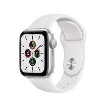 Apple iWatch SE 44mm Silver Aluminum Case With White Sport Band - GPS