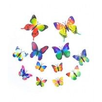 Baba Boota 3D Butterfly Wall Stickers 12 pcs Multi Colors