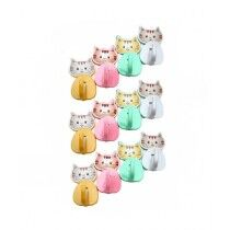 Cnb Stall Cartoon Wall Hanging Hooks Pack Of 12 Multicolor