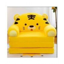 Easy Shop 2 in 1 Cute Children Cat Cartoon Foldable Sofa Bed Yellow