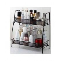 Easy Shop 2 Layer Color Coated Metal Stand Black