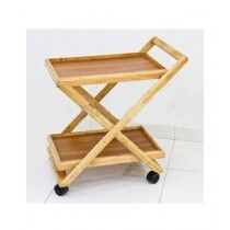 Easy Shop Wooden Two Flappers Tea Trolley