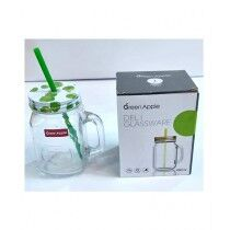 D-Quick Shop Green Apple Glass Jar 490ml Green
