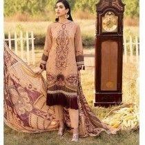 Khas Stores 3 Piece Unstitched Embroidered Khaddar Suit with Viscose Shawl (KKS-1020)