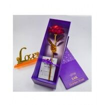 ZS Multi Store 24K Gold Plated Artificial Flower With Love Stand