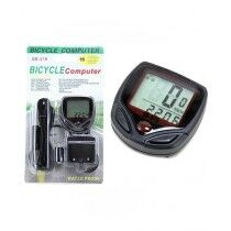Muzamil Store Wired Bicycle Digital LCD Speedometer & Stopwatch