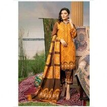 Noorma Kaamal Wintry Linen Khaddar Collection Lily Unstitched 3 Piece (06)