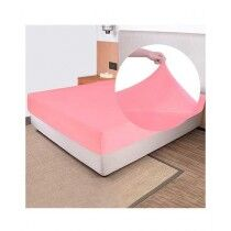 Rainbow Linen Jersey Fitted Bed Sheet Single Size Hot Pink (RHP108)