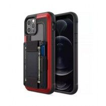 Raptic Shield Wallet Red Case For iPhone 12 & iPhone 12 Pro