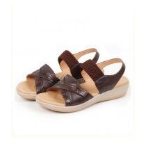 Sage Leather Synthetic Sandal For Women Coffee (800181)