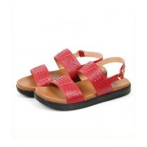 Sage Leather Synthetic Sandal For Women Maroon (800182)
