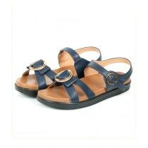 Sage Leather Synthetic Sandal For Women Navy Blue (800174)