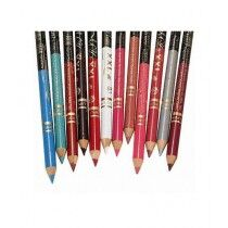 Saimamart 2 in 1 Eye And Lip Pencils Pack Of 12