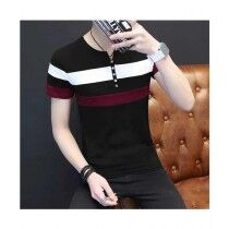 Sale Out Henley T-shirt For Men (0296)