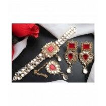Sale Out Jewellry Set For Women Red (0345)