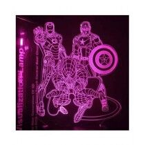 Sale Out Super Heroes 3d Bedroom Night Lamp (0373)