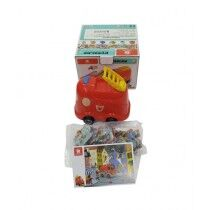 Super School Store Learning Fire Truck With Puzzle (130907)