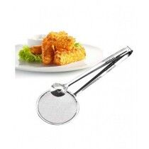 The Mart One Frying Filter Spoon With Clip Stainless Steel