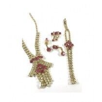 Vero by Sania Cindy Gold-Plated Necklace Set (D-259)
