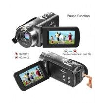 Versatile Besteker 1080P HD Video Camera Camcorder Gray
