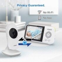 """Vtech Digital Video Baby Monitor With 2.8"""" LCD Display White (VM819)"""