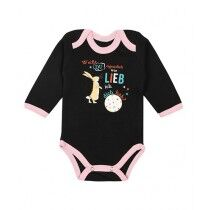 Wokstore Garments Printed Romper For Baby Black/Pink